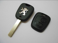 High Quality  2 Buttons Remote Fob Case Cover Car Key Shell Blank  Blade Without Groove  For Peugeot 307 407