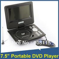 "7.5"" Portable DVD Player TFT LCD SCREEN SD USB TV MP3 MP4 Multifunction FM AVI"