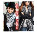 Free Shipping Seckill Cheap Wholesale Hot Sale Women Chiffon Skull Printed Scarf For Autumn Spring,2Colors,10 PCS Min Order