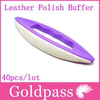 Freeshipping 40pcs/lot Proffesional Nail Art Tool Set Plastic Purple Leather Polish Buffer Varnish Polish NK-007