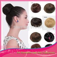 1Pcs Fashion Natural Synthetic Updo Clip In On Bun Hair Bundles Chignon Hairpieces Scrunchie Hair Bun Women Girls Party Gifts Q3