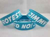 "1D One Direction No Jimmy Protested Quote Wristband Bracelet,1"" wide band,color printed,50pcs/lot, silicone bracelet,"