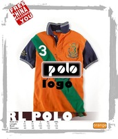 1FC292-To orange fasion high quality cotton SPORT casual All-match jockey polo rl with embroidery logo t-shirt