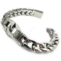 Men's Interlock Pliers Skull old totem Bracelet For MEN Curb Twist Chain Stainless Steel Bracelet Jewellery
