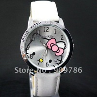 hot sale!!!  Free shipping new woman's watch lovely hello kitty watch ,5 colors high quality watch