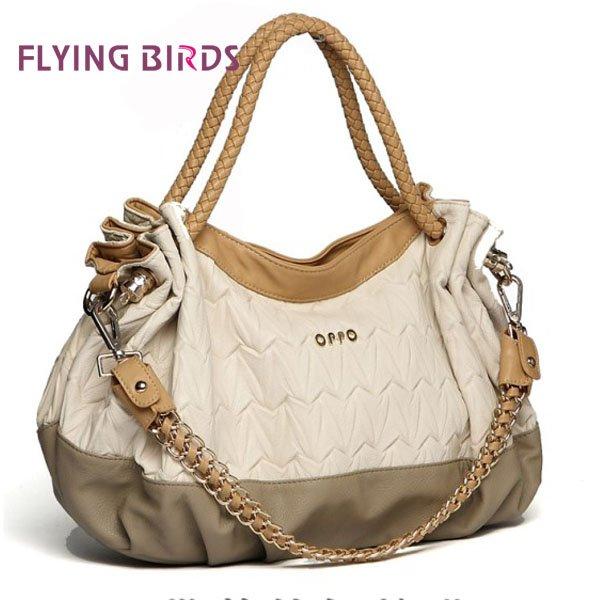 FLYING BIRDS 2012 Hot New Women Fashion Hong Kong OPPO Shoulder Bag Popular Folding Handbag Chain Bag HG6885(China (Mainland))