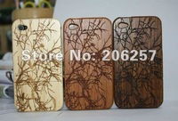 Special selling protection shell ! Branch wooden phone case for iphone 4 4s