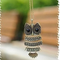 Free shipping !!  Retro owl necklace 24 pcs/lot. free shipping