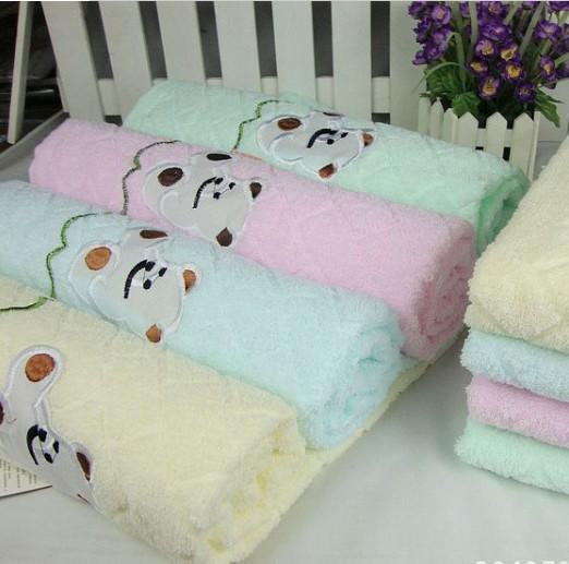 random color Size 70*140cm Single yarn plain bear bath towel zone listed water bath towel wholesale MT0056(China (Mainland))