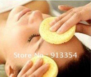 Wholesale 200 Pcs  facial cleansing cellulose sponge makeup remover Round shape 45367-12