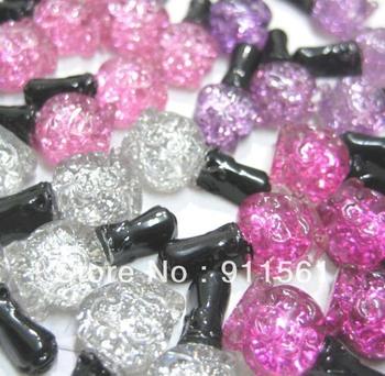 wholesale 32pcs/Lot, Glitter Pretty Nail Polish Perfume Bottle (23x10mm) 4colors for DIY phone hair decoraton