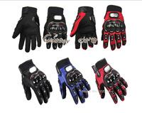 2012 NEW Motorcycle Bike Full finger Protective Gloves Black / Red / Blue Size Medium / Large / X-Large