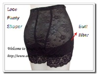 Mid Waist Shapewear Briefs Sexy Lace Plus Magic Body shaper Waist Shaper Butt Lift Shaper panty Shapewear panty body building