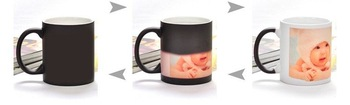 Free Shipping, colour change mug, novelty colour changing cup, kitchen, creative coffee drink, ceramic, retail and wholesales