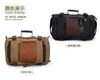 Gerun High-grade Canvas backpack  /  Shoulder bag / Travel bag carryall bag  / GR9701-135black