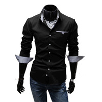 2013 Hot sale Men's Long Sleeve Shirt Slim Fit Mens Shirts Designer Free Shipping  P088