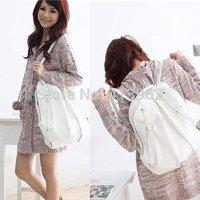 Hot Casual  Fashion Women 2 Ways PU Leather School Backpack