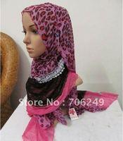 FREE SHIPPING,patchwork shawl,animal printed scarf,lace scarf,muslim hijab,2012 new design,55*190cm,fashion ladies shawl