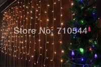 Free Shipping,3MX1.5M 240 Led Curtain lights String Wedding Christmas Xmas 110V/220V,EU/US/UK/AU Plug