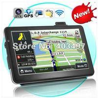 7 inch GPS navigation, DVR+Bluetooth + AV IN + FM+8GB, load 3D map DDR 128 Win CE 6.0