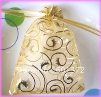 12*9cm BEAUTIFUL Yarn Wedding Jewelry promotional Packaging Organza Bag Pouches