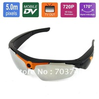 New 720P 5MP HD Sport Sunglass camcorder, Mini HD Eyewear Recorder DV Camera-Angle Lens