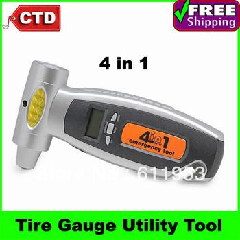 4 in 1 Digital LCD Tire Gauge Utility Tool