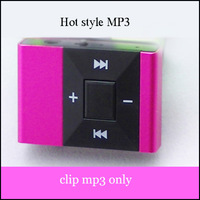 50pcs Mini Clip metal Clip MP3 player portable digital MP3 Player with TF Slot 6 colors in stock free shipping