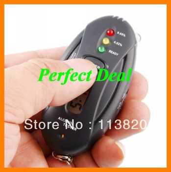 Free Shipping China Post Digital LCD Alcohol Tester Analyzer Breath Breathalyzer