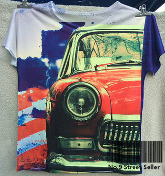 New Vintage Retro Rock&Roll Punk T-shirt Top Tee Old Red Cool Bubble