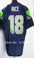 Free Shipping!!!  #18 Sidney Rice   jersey(all name number stitched!!)