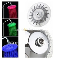 Wholesale Cheap Shower Head-- High-quality 7.7-inch Water Powered LED Colorful Shower Head (Plastic, Chrome Finish)