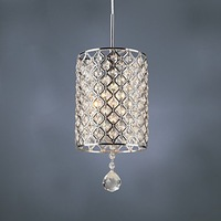 Free shipping Contemporary Crystal Drop Pendant Light in Cylinder Style