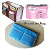 2012 HOT SALE fashion  6 colors double zipperred multi-function organizer bags