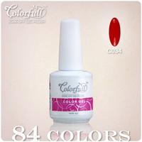 84 Colors 12PCS/Lot CNF New Brand Colorful UV Gel Soak Off Nail Polish (8 Color Nail Gel+2 Base+2 Top)