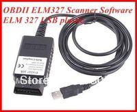 DHL Free Shipping 30pcs 1.5V Elm 327 usb plastic Car Scan Tool OBDII BUS Diagnostic Interface  ELM327
