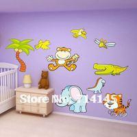 Free shipping Wholesale Wall Stickers ,Wall Sticker little elephant
