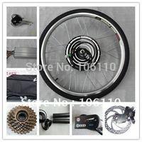 Free shipping! LED METER ,DISCBRAKE, 36v 500w electric bike conversion kits with rear wheel,36v10ah li-ion battery