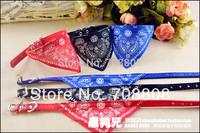 2014  Hot Selling New Adjustable Pet Dog Cat Bandana Scarf Collar Neckerchief Triangle Bibs Collars Free Shipping