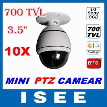 2014 Brazil CCTV Security 700TVL 1/3 Sony ccd 10x mini speed dome camera 10x ptz camera cctv camera Free Shipping