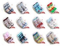 2012 new arrivel baby /kids socks, infant/boys/girls shoes,Antiskid toddler shoes,cute animal design,7pairs/lot