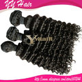 Mix Length 3pcs/lot Virgin brazilian remy human hair Weave Deep wave extensions natural color DHL FREE SHIPPING