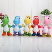 10pcs 5 inch PVC Super Mario Bros Luigi donkey kong Action Figures yoshi 5 colors mario Gift OPP retail