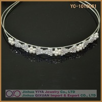 Free Shipping Wholesale Pretty Silver Crystal Headbands for Women Customized