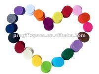 "Free Shipping 1000pcs 1"" Mix Color Felt Circles for Crafts Wholesale 2015 Fashion Scrapbooking Headband Decoration Baby Kids DIY"