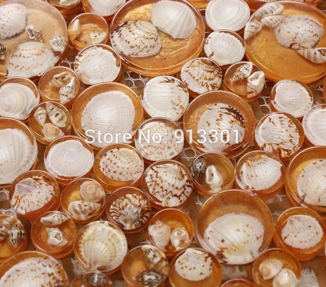 crystal-glass-tile-with-shells-orange-glass-font-b-pebbles-b-font ...