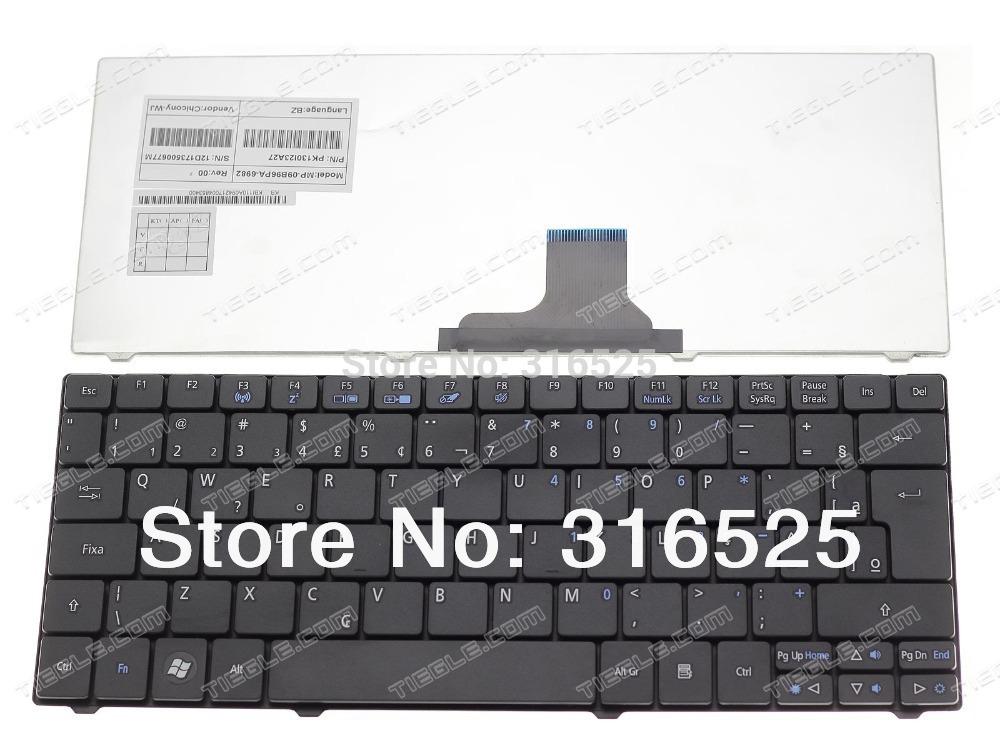NEW Brazil Teclado For Acer Aspire One 751 751H 752 753 ZA3 ZA5 AO751 1410T 1810 Black notebook keyboard #AC154(China (Mainland))