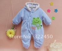 Retails 1PC (3-12M) Baby infant newborn Jumpsuits for spring autumn cartoon cotton-padded velvet rompers for baby boys girls