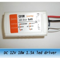 10pcs DC 12V 1.5A 18W led light transformer LED constant voltage power supply adapter 220V-240V