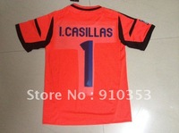 Real Madrid  Free shipping 12-13 Youth Casillas Kids goalkeeper away Soccer Jerseys soccer uniforms soccer kits